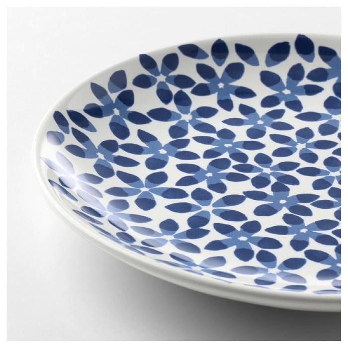 Тарелка десертная МЕДЛЕМ, 22 см, цвет белый, рисунок синий