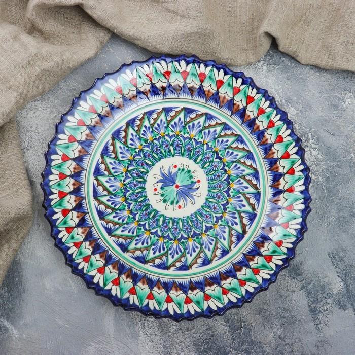 Тарелка плоская, рифленая 27 см