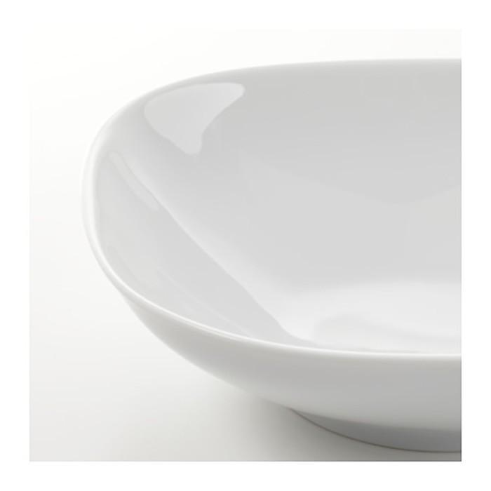 Тарелка глубокая, белый ВЭРДЕРА