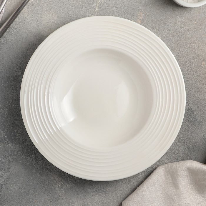 Тарелка для пасты «Белла», 22 см, цвет белый