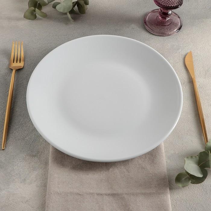 Тарелка плоская «Lebon», d=26 см, цвет белый