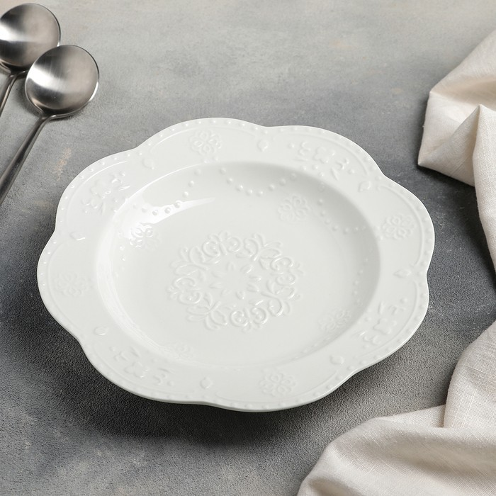 Тарелка глубокая «Сьюзен» 250 мл, 23?3,5 см, цвет белый