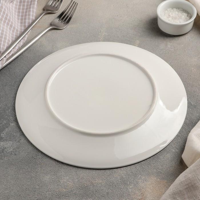 Тарелка обеденная «Белла», 26 см, цвет белый