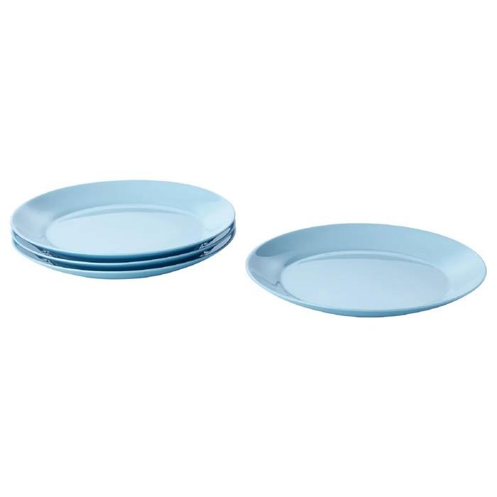 Набор тарелок десертных БЕСЕГРА, 21 см, 4 шт, цвет голубой