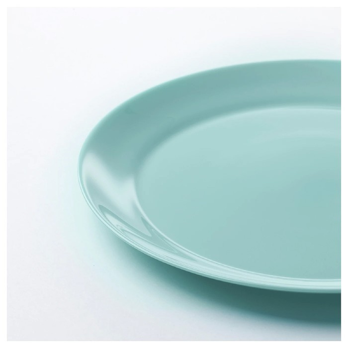 Набор тарелок БЕСЕГРА, 4 шт, 25 см, цвет светлая бирюза