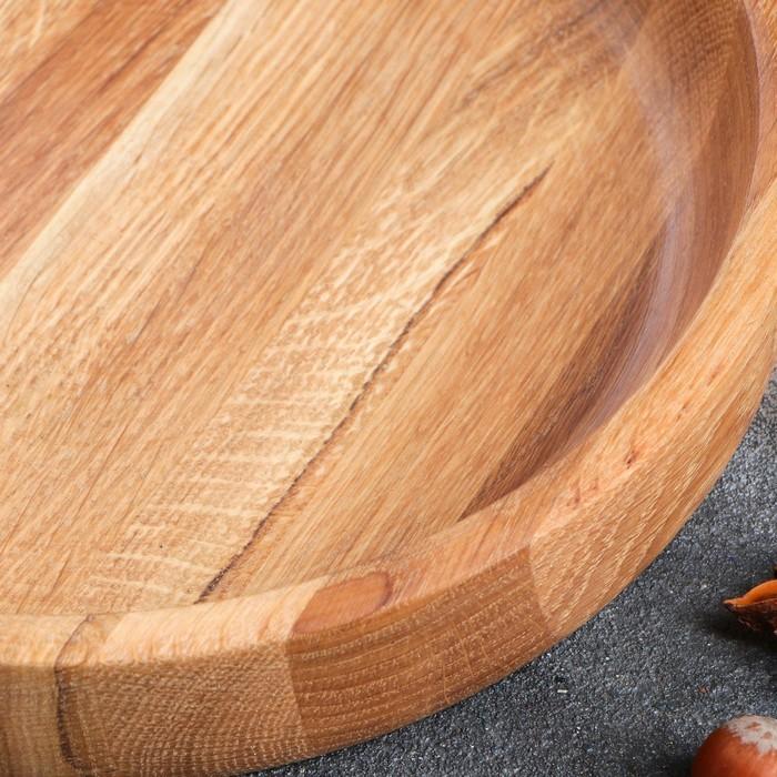 Тарелки глубокая, массив дуба, 25 х 4 см