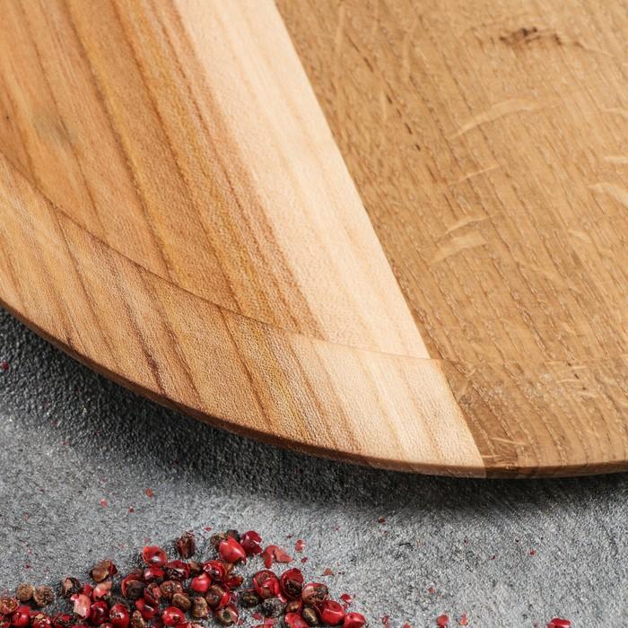 Тарелка обеденная, массив дуба, 30 см