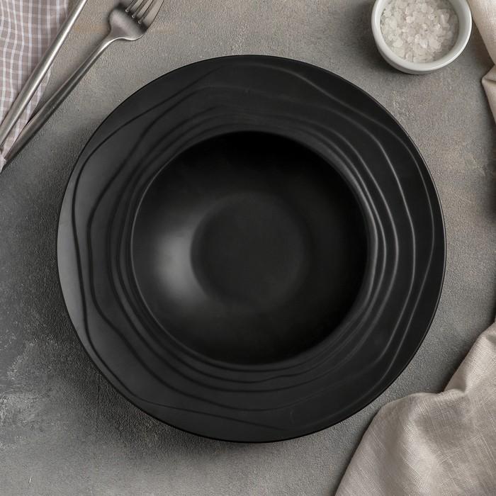 Тарелка для пасты «Black», 25 см, цвет чёрный