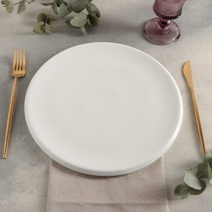 Тарелка плоская «Slide», d=27 см, цвет белый