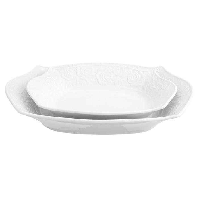 Набор «Белые розы»: 2 блюда, объёмы 700 мл и 400 мл