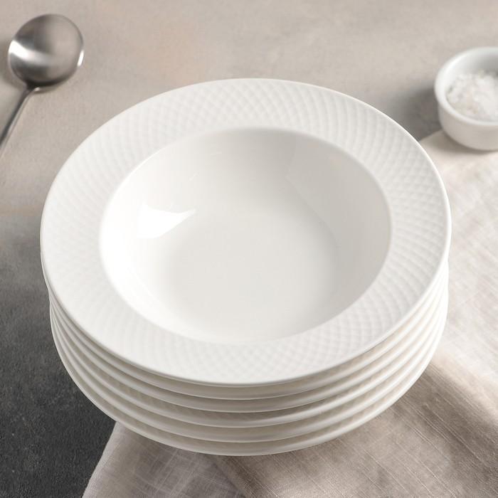 Набор тарелок глубоких 22,5 см 400 мл Julia, 6 шт WL-880102 / 6C