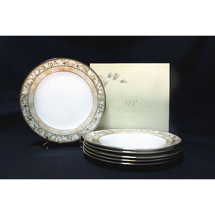 Набор «Золотой узор», 6 тарелок, в подарочной упаковке
