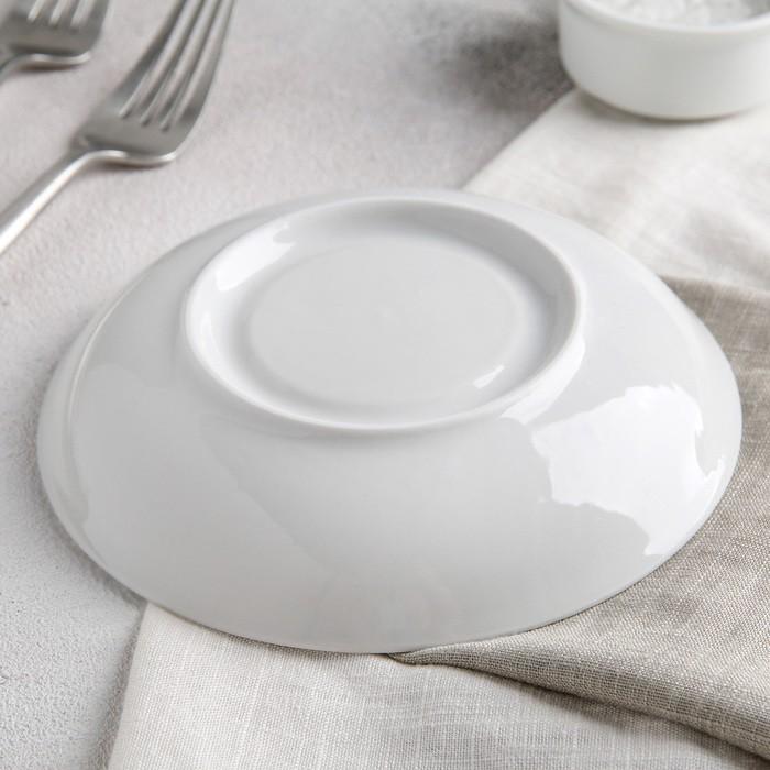 Блюдце «Бельё», d=15 см, цвет белый