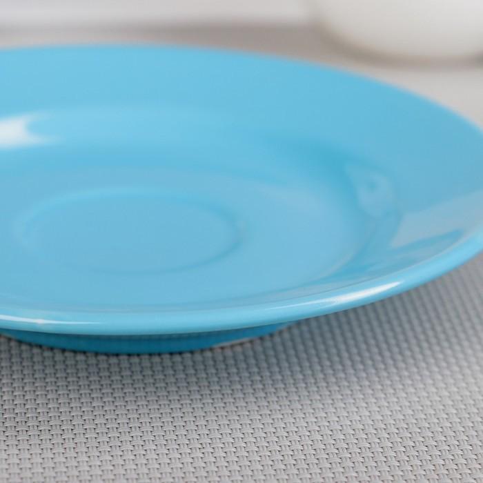 Блюдце, d=15 см, цвет МИКС