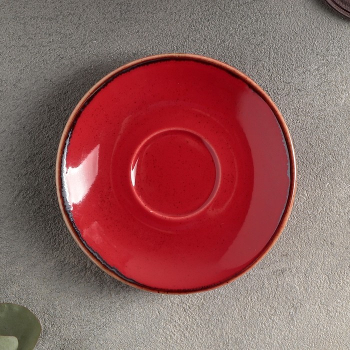 Блюдце для кофейной чашки 12 см, цвет красный