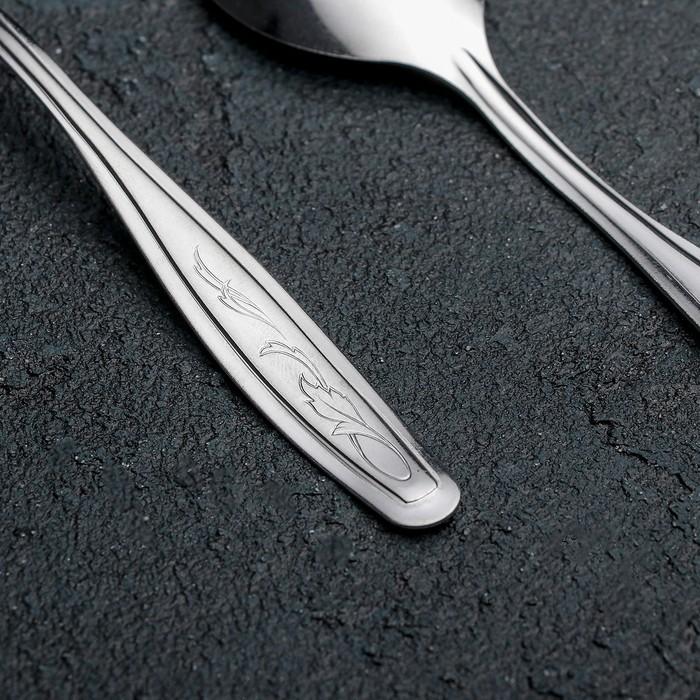 Ложка чайная «Силуэт», h=14 см, толщина 1 мм, упрощённая обработка