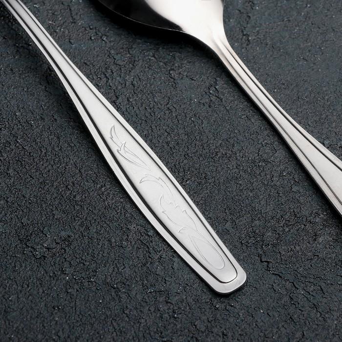 Ложка столовая «Силуэт», h=20 см, толщина 1 мм, упрощённая обработка