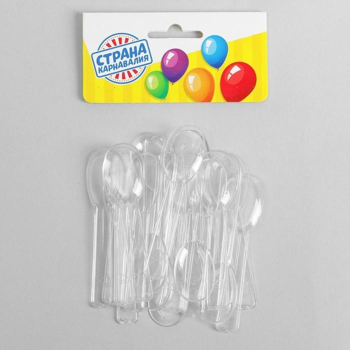 Пластиковые ложки, набор 24 шт.
