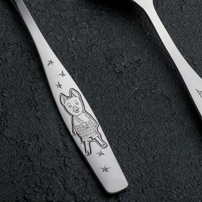 Ложка столовая детская «Антошка», h=16 см, толщина 2 мм
