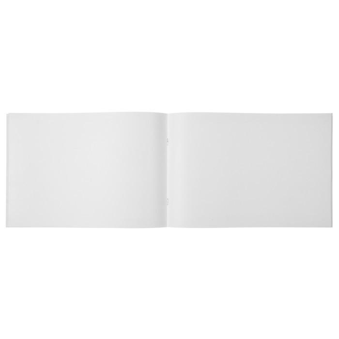 Альбом для рисования А4, 32 листа на скрепке Mix 5, обложка мелованный картон, МИКС
