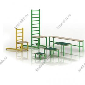 Набор оборудования для ЛФК (стул, скамейка, скамейки- вкладыши) РУС-001