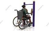Тренажеры для инвалидов колясочников Круги КДК-019