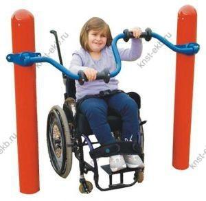 Уличные тренажеры для инвалидов Велосипед для рук КДК-033