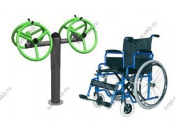 Уличные тренажеры для инвалидов Рули большие КДК-039