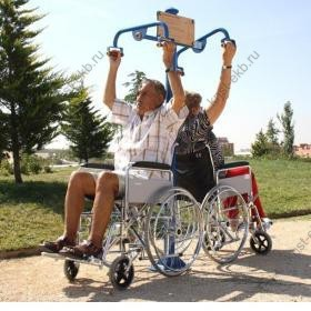 Уличный тренажер для инвалидов колясочников Турник двойной КДК-055