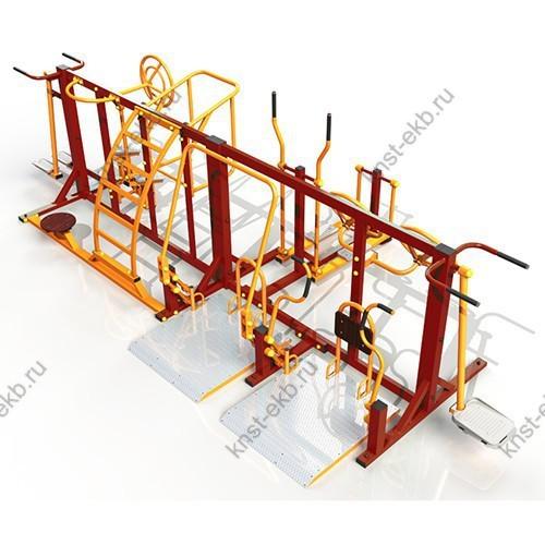 Комплекс уличных тренажеров для инвалидов КДК-058