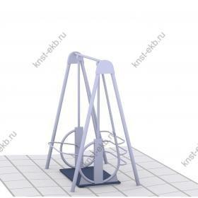 Качели для инвалидов-колясочников (неражавеющая сталь) КДК-087