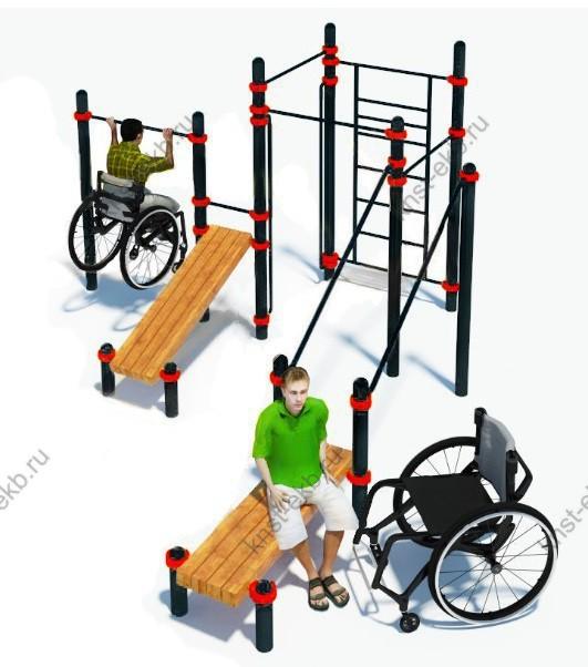 Спортивная площадка для улицы для инвалидов-колясочников КДК-100