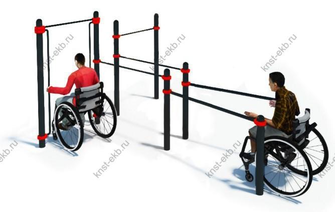 Спортивная площадка уличная для инвалидов-колясочников КДК-101