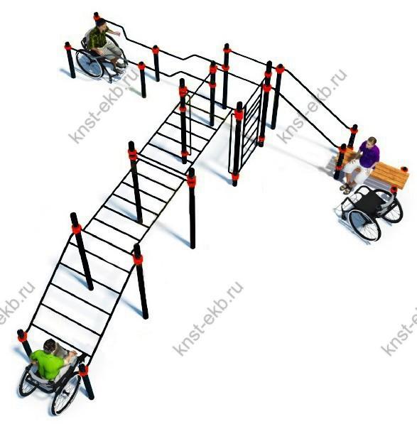 Спортивная площадка уличная для инвалидов-колясочников КДК-102