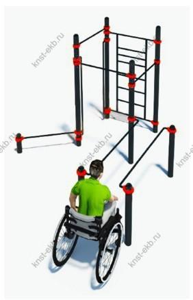 Спортивная уличная площадка для инвалидов-колясочников КДК-103