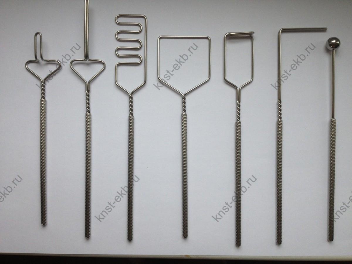 Комплект профессиональных логопедических зондов из 7 штук с улучшеными ручками ЗНД-029