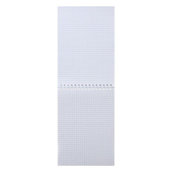 Блокнот А5, 100 листов клетка на гребне «Россия», обложка мелованный картон, ВД-лак, 60 г/м?